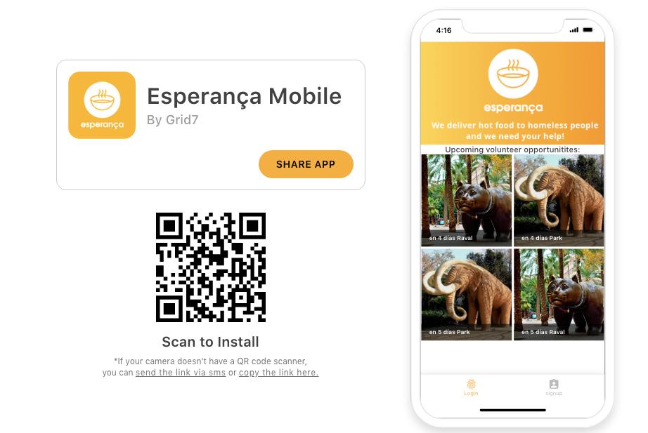 esperanca barcelona homeless charity app how to use